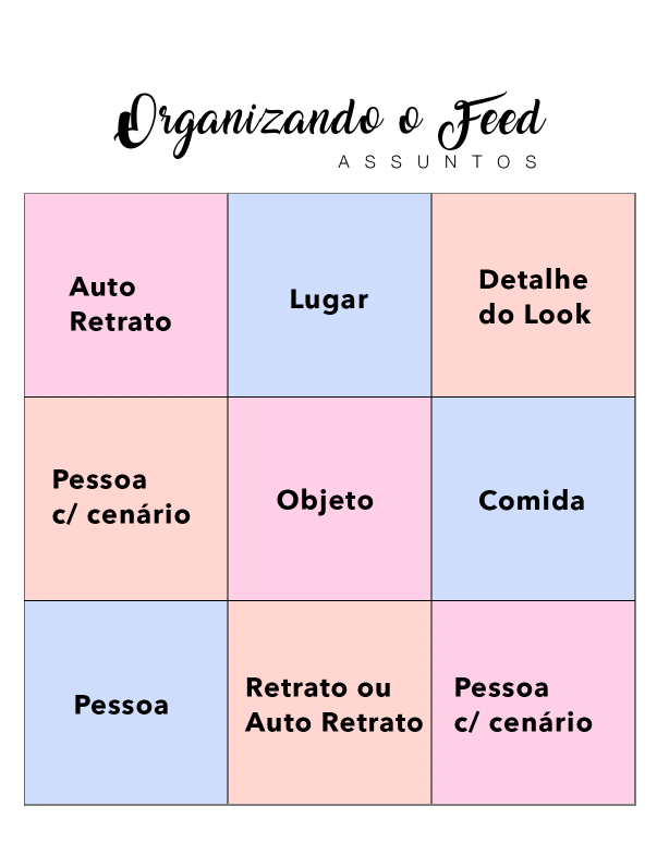 Organizando o Feed